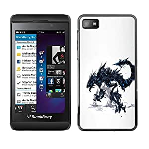 Paccase / SLIM PC / Aliminium Casa Carcasa Funda Case Cover para - Dragon Monster - Blackberry Z10