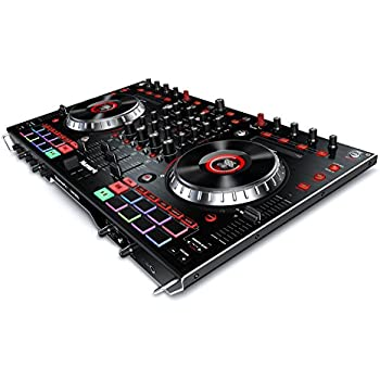 "Numark NS6II | 4-Channel Premium DJ Controller with Dual USB Ports & 2"" Hi-Res Platter Displays"