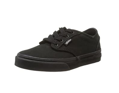 vans shoes black and grey. vans shoes atwood canvas black sneakers size 2 kids-youth 0ki5186 and grey