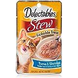 HARTZ Delectables Stew Lickable Wet Cat Treats - Tuna & Shrimp - 12 Pack