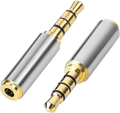 Aigital Kopfhörer Adapter Vergoldet 3 5 Mm Stecker Elektronik