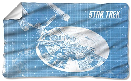 Star Trek - Enterprise Blueprint Fleece Blanket 57 x 35in by Star Trek
