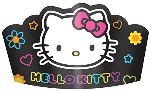 Hello Kitty 'Neon Tween' Paper Crowns (8ct)