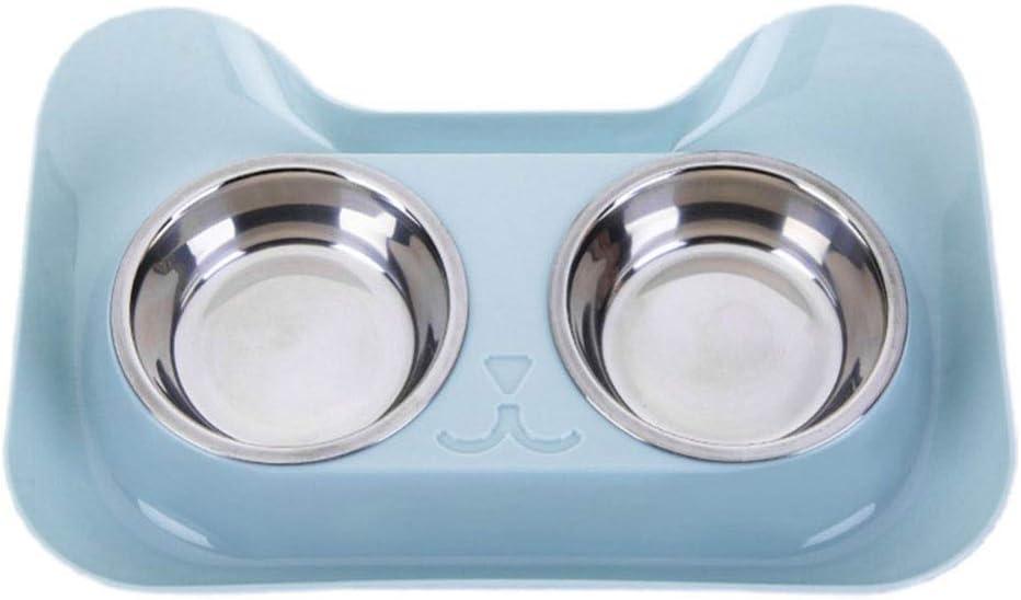 Comederos Plástico Salpicaduras Riego Cuencos Dobles Acero Inoxidable Gato Perro Comida para Mascotas y Cuencos para el Agua para Mascotas Mesa de Comedor Cuencos de arroz Cuenca Platos para Perros