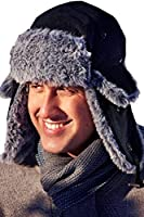 Boutique Adults Trapper Hat Mens Womens Faux Fur Lined Outdoors Winter Accessory