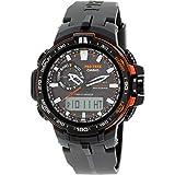 Casio Men's Pro Trek PRW6000Y-1 Black Resin Quartz Watch