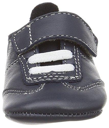 Old Soles Kick Shoe - pantuflas de aprendizaje de cuero Bebé-Niñas azul - azul (marino)