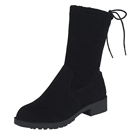 ... Punta redonda Botines cortos de mujer Botines medio Botines Martin Botines con cordones Zapatos Mujer Plataforma: Amazon.es: Ropa y accesorios