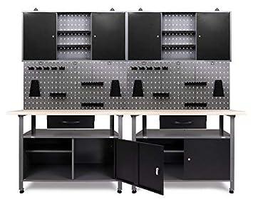 Ondis24 Werkstatteinrichtung Werkstatt Set Werkbank Klaus 240 Cm