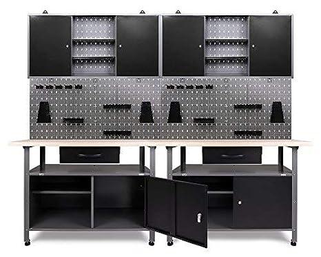 Super Ondis24 Werkstatteinrichtung Werkstatt Set Werkbank Klaus 240 cm PE08