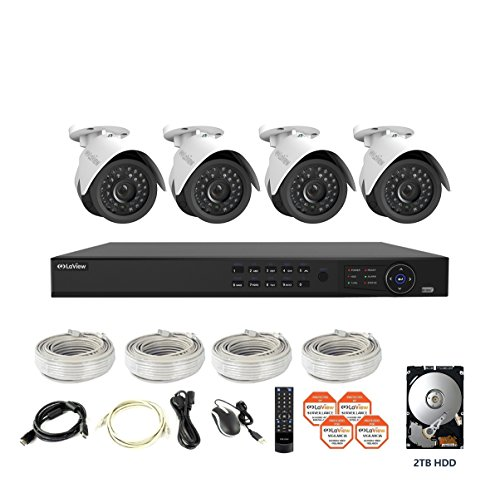 LaView 4 1080P IP Camera Security System, 8 CH 1080P IP PoE NVR w/2TB HDD and 4 2MP Bullet Surveillance Camera by LaView (Image #1)