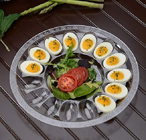 25 Pieces 12'' - 20 Slot Egg Tray Egg Trays Heavy Duty Disposable Devilled Egg Platters in Bulk
