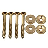 BQLZR Gold Neck Joint Bushings And Bolts For Electric Guitar Pack of 4