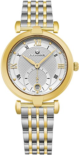 alexander-monarch-olympias-date-silver-large-face-watch-for-women-swiss-quartz-stainless-steel-two-t
