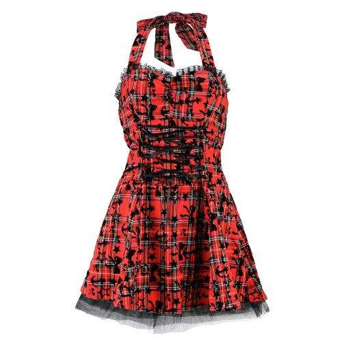 H&R London - Vestido - para mujer Rojo