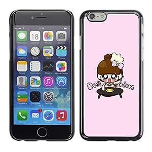 TopCaseStore / la caja del caucho duro de la cubierta de protección de la piel - Cute Japanese Anime Girls - Apple iPhone 6