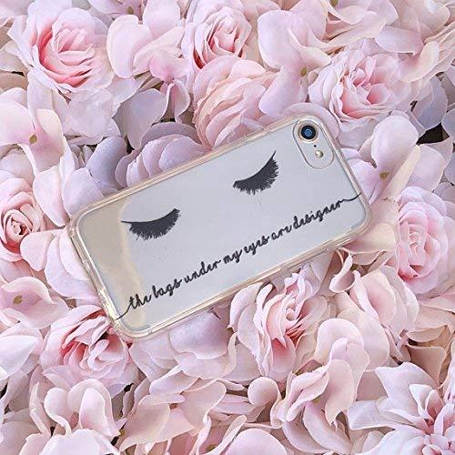 6 8 Plus 7 Plus 5s 7 Eyelashes iPhone Case for 5 6 Plus X 8 SE