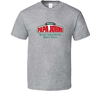 Papa John's Pizza Fan T Shirt | Amazon.com