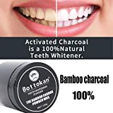 Expxon Carbon Coco Organic Charcoal Teeth Whitening Powder Natural Tooth Polish,Natural Teeth Whitening Powderm Organic Safe Effective Tooth Whitener Solution for Stronger Healthy Whiter Teeth