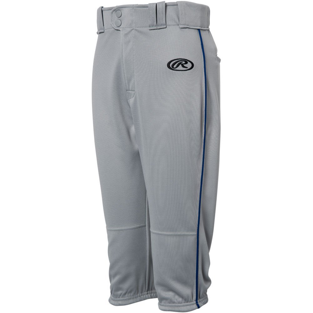Rawlings Youth Launch Piped Knickerパンツ B0778KW223 X-Large|Grey|Navy Grey|Navy X-Large