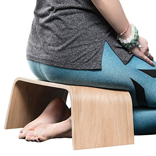(Valiai Strong Wooden Bench for Meditation, Tea Ceremony, Seiza, Praying and Healthier Sitting)