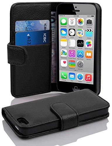 77150879fa56 Cadorabo Apple iPhone 5C Etui de Protection STRUCTURE en NOIR DE JAIS –  Coque Protective Complète