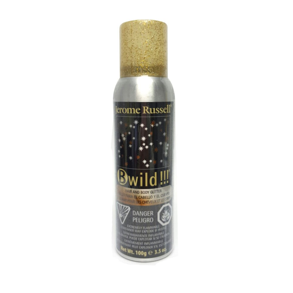 B-wild Hair and Body Glitter Spray Gold+silver 3.5 Oz **1 Can Jerome Russell