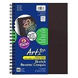 Art1st PAC4779BN Create Your Own Cover Diario de bocetos, negro, 11 x 8-1/2 pulgadas, 50 hojas por diario, paquete de 3