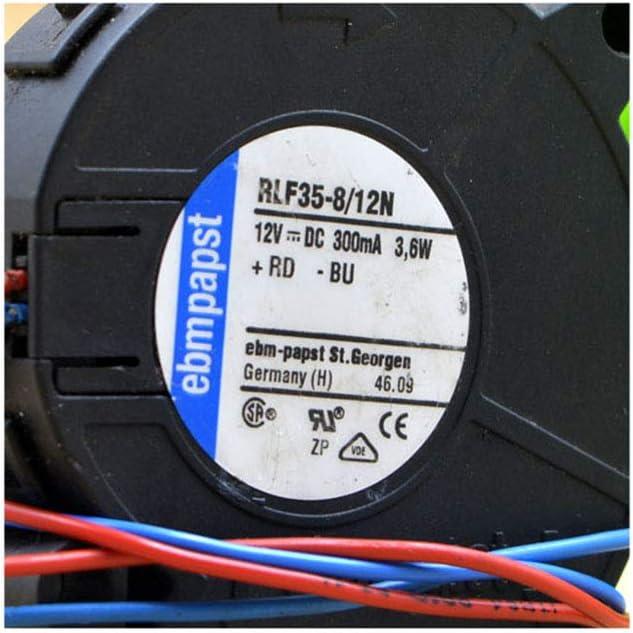 Cytom for Original ebmpapst Fan RLF35-8//12N//2P Blower 5CM 12V 3.6W