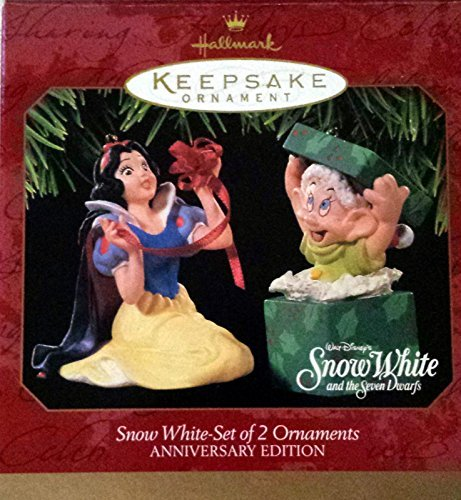 Collectible Christmas Ornament Collection (Snow White Set of 2 Ornaments Anniversary Edition 1997 Hallmark Keepsake ornament QXD4055)