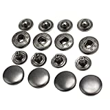 50 Pcs 13mm Vintage Black Metal Snap Press Fasteners Sewing Buttons Studs New