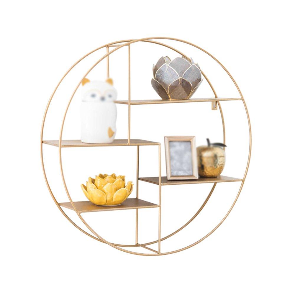 美しい 家ノルディックリビングルーム壁掛け式鉄製ラック/シンプルな棚壁掛け式円形ディスプレイシェルフ/ 70 * 16.5cm B07BDD83VK