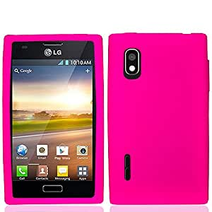 Hot Pink Soft Silicone Gel Skin Cover Case for LG L40G