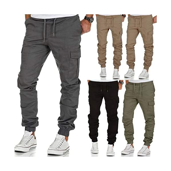 Minetom Homme Pantalon Cargo Casual Jogging Cordon De Serrage Baggy Pants Trousers Sport Activewear Sweatpants Mode