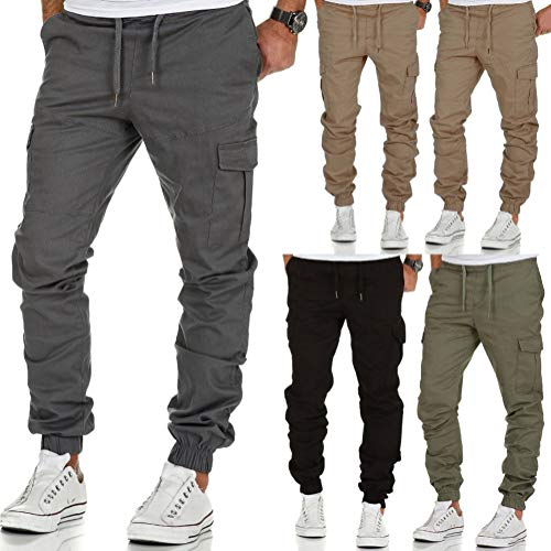 De Pantalon Cordon Vert Jogging Activewear Pants Mode Homme Baggy Sport Cargo Serrage Minetom Sweatpants Casual Trousers B1YqZ5