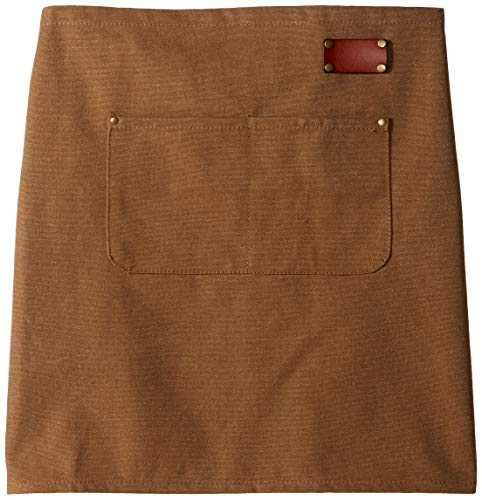 PUTALI LTD | Canvas Waist Apron with Pockets | Adjustable Leather Clip-on Straps | For Server, Kitchen, Garden, Shop or BBQ | Riveted Pockets