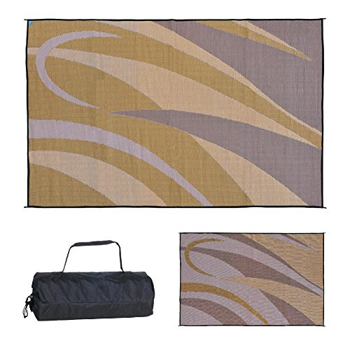 Ming's Mark GA7 8-Feet x 12-Feet Brown/Gold Reversible Graphic Mat