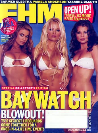 FHM Magazine March 2003 (1-1066, Special collector's edition baywatch tv's sexiest lifeguards come - 2003 Tin Collectors