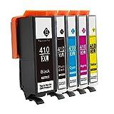 LiC-Store 5 Pack Compatible Ink Cartridge Replacement for Epson 410XL 410 XL T410XL020 (1x Black, 1x Photo Black, 1x Cyan, 1x Magenta, 1x Yellow) for Epson Expression XP-830 XP-630 XP-530 XP-635 XP-640