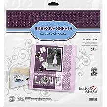 3L Scrapbook Adhesives Adhesive Sheets, 12-Inch x 12-Inch, 25-Pack