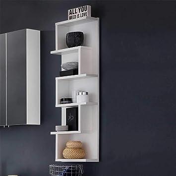Pharao24 Design Badregal in Weiß hängend: Amazon.de: Küche & Haushalt