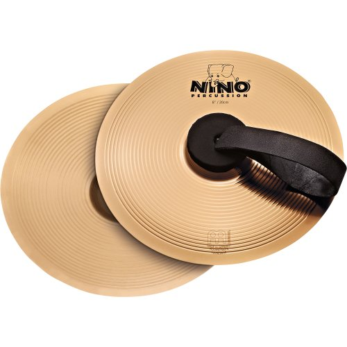 - Nino Percussion NINO-BO20 8-Inch Marching Cymbal Pair with Holding Straps, Bronze