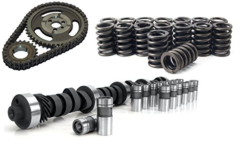 CHEVY SBC 350 HP RV STAGE 2 420/443 Lift CAMSHAFT & LIFTERS, Valve Springs & ADJUSTABLE Double Row TIMING CHAIN KIT
