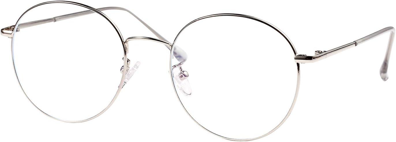 ROSA&ROSE Gafas para Ordenador Anti luz Azul - Gafas con Filtro de luz Azul bloqueo de luz azul Evita la Fatiga Ocular para Hombre y Mujer
