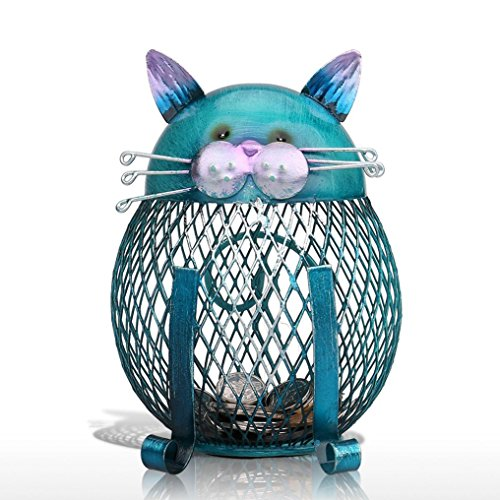 Khannika Cat Piggy Bank Saving Money, Cat Piggy Bank for Girls, Ragdoll Cat Litter Box, Bank Animal, Kitty Bank, Cat Coin Bank Home Decor,