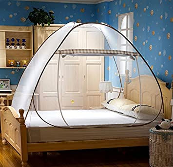 Uozzi Bedding Magic Folding Bed Tent Canopy Mosquito Net for Beds Home Bedroom Decor Easy & Amazon.com : Uozzi Bedding Magic Folding Bed Tent Canopy Mosquito ...
