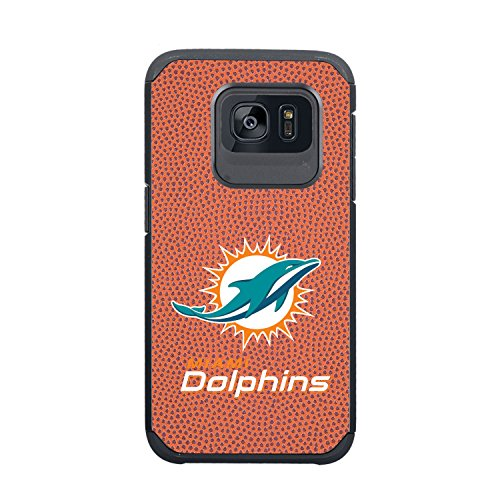 NFL Miami Dolphins True Grip Football Pebble Grain Feel Samsung Galaxy S7 Edge Case, Classic
