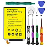 Euhan 3220mAh Rechargeable Li-Polymer Battery SNN5953A Replacement Motorola Google Nexus 6 XT1100 XT1103 EZ30 + Repair Replacement Kit Tools