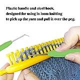 Knitting Loom Hook with Needle Loom Pick Steel