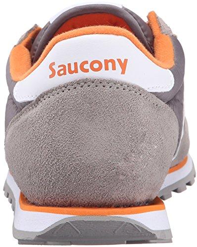 Saucony Mens Jazz Lowpro-m Heritage Scarpa Da Corsa Grigio / Bianco / Arancione